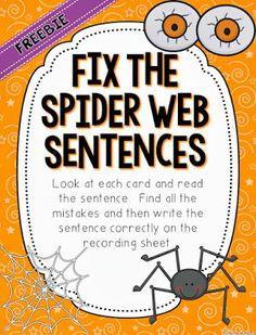 2nd Grade Stuff: It's Getting Creepy! AND a {FREEBIE}!