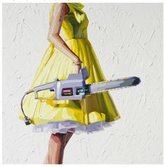 I'm in love with this artist and her work.  Especially this series of women with tools.  And the yellow? It's killing me!   Artist: Kelly Reemtsen http://www.kellyreemtsen.com