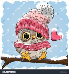 Find Cute Cartoon Owl Knitted Cap Heart stock images in HD and millions of other royalty-free stock photos, illustrations and vectors in the Shutterstock collection. Thousands of new, high-quality pictures added every day. Christmas Owls, Christmas Drawing, Owl Cartoon, Cute Cartoon, Cartoon Mignon, Chibi Kawaii, Owl Kids, Art Mignon, Owl Pictures