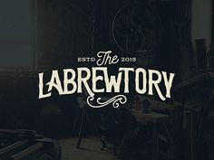 The Labrewtory. Great logotype, great name. (More design inspiration at www.aldenchong.com)