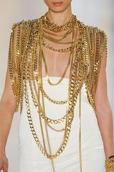 Just waiting for body chain jewelry to come into fashion and here it is! Alexandre Vauthier couture Fall 2012.