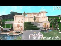 Bloxburg: Peachy Mini Mansion | Speed Build - YouTube Two Story House Design, Tiny House Layout, House Layout Plans, Unique House Design, House Layouts, House Plans Mansion, My House Plans, Family House Plans, Luxury House Plans