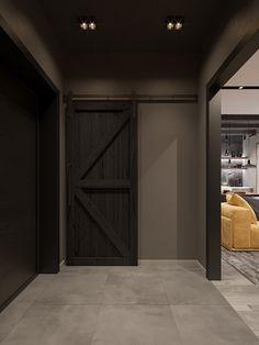 loft interior 2 on Behance Home Hall Design, Loft Design, Home Interior Design, Interior Architecture, Interior Decorating, House Design, Loft Interiors, Small Loft, Showroom Design