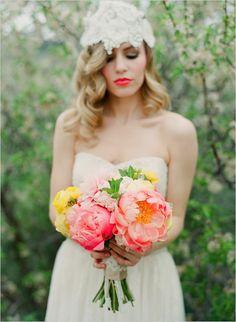 gorgeous bouquet, lovely lip color.