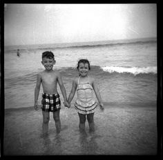 Bruce Springsteen and his sister, Ginny, circa 1955.  Courtesy of Springsteen Family Archives