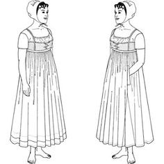 Amazon Drygoods - Two Strapped, High-Waisted Upper Petticoats, Circa 1798-1825, $18.75 (http://www.amazondrygoods.com/products/two-strapped-high-waisted-upper-petticoats-circa-1798-1825.html)