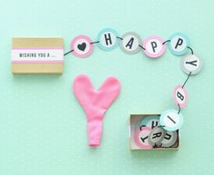"A fun way to say ""Happy Birthday"" to a friend or loved one! / SALLYJSHIM for Oh Happy Day"
