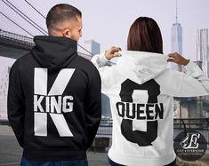 King Queen King Queen Hoodies Set of King & Queen Pärchen Cute Couple Shirts, Matching Couple Outfits, Matching Couples, Cute Couples, Matching Set, King And Queen Sweatshirts, King Queen Shirts, Valentine Shirts, Kings & Queens