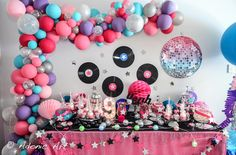 Rock star theme dessert table