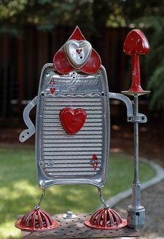 Yard art.....Ace of Hearts ala #AliceInWonderland