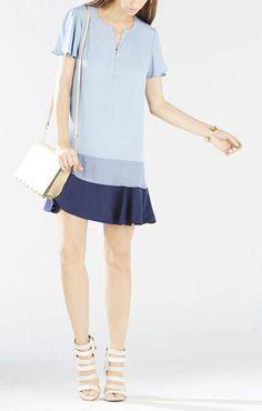 Dani Color-Blocked Flounce Dress