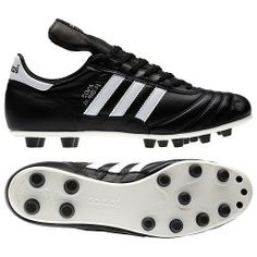 aa6c8ed21 Adidas Copa Mundial Leather Soccer Cleats - Men s 015110 Black Adidas  Soccer Shoes