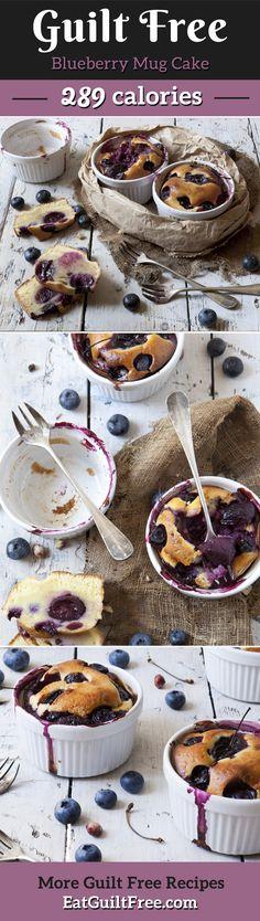 3 minute microwaveable blueberry cake in a mug.