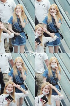 少女時代テヨンとユナの空港画像150610