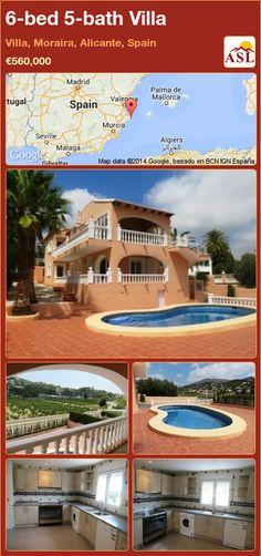 6-bed 5-bath Villa in Villa, Moraira, Alicante, Spain ►€560,000 #PropertyForSaleInSpain