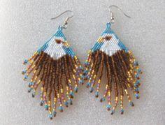 Beaded Dangle Earrings by TheBeadedDiamond on Etsy, $18.00