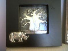 tree  rhino box frame, facebook.com/ThePewterRoom