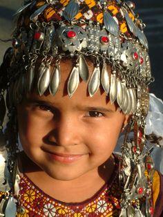 Turkmenistan   Girl in traditional dress   ©Kendon Glass
