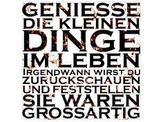 Shabby Blechschild GENIESSE DIE KLEINEN DINGE von Interluxe via dawanda.com