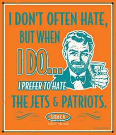 Miami Dolphins Fans. I Prefer to Hate The Jets & Patriots 12'' X 14'' Metal Man Cave Sign
