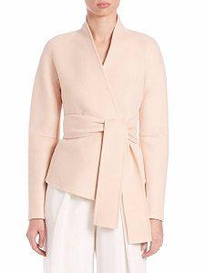 Splurge Monday's Workwear Report: Felted Cashmere Wrap Coat - Corporette.com