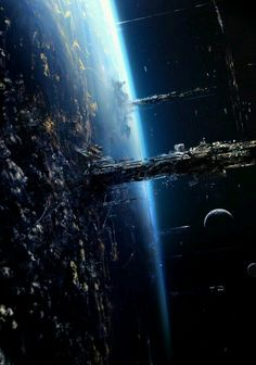 Jupiter Ascending Concept Art by Philippe Gaulier Philippe Gaulier has posted some of the environment concepts he created for Jupiter Ascending, directed by Lana and Andy Wachowski. Sci Fi Fantasy, Fantasy World, Dark Fantasy, Space Fantasy, Fantasy Dragon, Fantasy Artwork, Concept Art Landscape, Fantasy Landscape, Concept Art Sci Fi