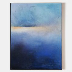 Abstract Ocean Sunset Painting #ABSV11 - 48''x 32''/ 122 x 81 CM