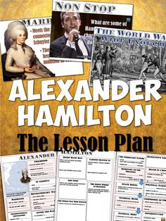 This amazing, fun, and highly-engaging lesson is designed to teach your students all about Alexander Hamilton through a PowerPoint, graphic organizer/interactive notebook pages, and songs from the hit Broadway show Hamilton.