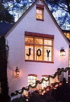 JOY - window 'wreath' idea