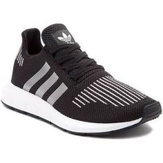 quality design 1bae2 88ff3 Youth adidas Black  silver Swift Run Athletic Shoe Size 2