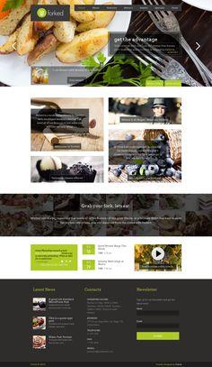 Forked - Responsive Restaurant & events http://themeforest.net/item/forked-responsive-restaurant-events/5157819?ref=wpaw #website #restaurant #template