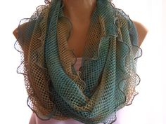 Breathtaking tiedyed Mermaid net infinity scarf by Textilemonster, $21.00