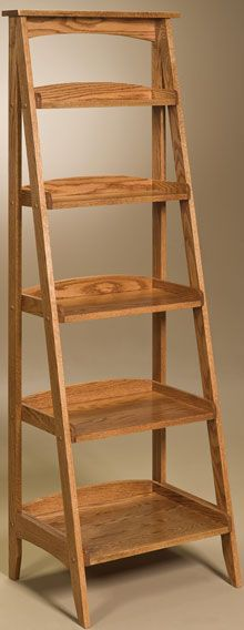 Amish Outlet Store : Ladder Shelf in Oak