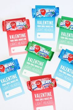 Free Printable Airheads Valentine from PagingSupermom.com #valentines #airheads #freebies