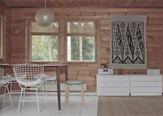 time of the aquarius: Cottage´s living room