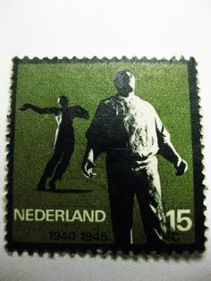 Dutch World War II Stamp