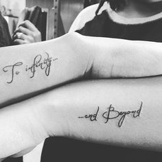 To Infinity and beyond #sistertattoos