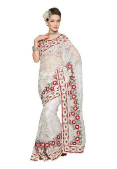 Fabdeal Indian Designer Net White Embroidered Saree Fabdeal,http://www.amazon.com/dp/B00INWK41C/ref=cm_sw_r_pi_dp_DcKqtb133RQT7X1Z