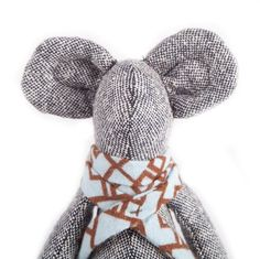 Timo-Handmade silk mouse soft toy in brown spotted boots #timohandmade #handmade #softtoy #mouse