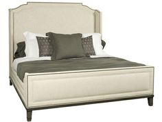 Shop for Vanguard Pennington King Bed, W527K-HF, and other Bedroom Beds at Vanguard Furniture in Conover, NC. Tucson Ivory On Body, Nickel Ferrules. Std #9 Black Silver Nails, Langdon Finish.