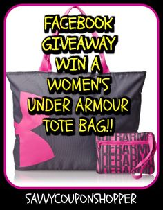 Free+Giveaway:+Win+a+Women's+Under+Armour+Tote+Bag!!!+(retail+$29.99)+  Enter+Here:+http://www.giveawaytab.com/mob.php?pageid=268476710007079