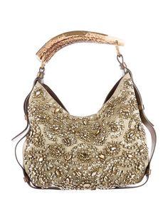 b0ae78b8783 Yves Saint Laurent Crystal Embellished Mombasa Bag Luxury Consignment,  Mombasa, Saints, Crystals,