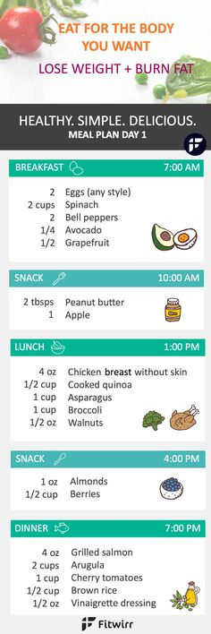One day weight loss meal plan