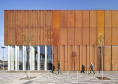 FaulknerBrowns completes rusted-steel community centre