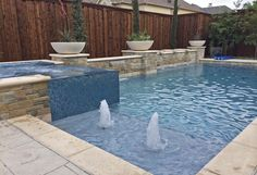 Artesian Custom Pools 9191 Kyser Way # 200 Frisco TX 75033 www. Backyard Pool Landscaping, Backyard Pool Designs, Small Backyard Pools, Swimming Pools Backyard, Outdoor Pool, Backyard Ideas, Lap Pools, Small Pools, Indoor Pools