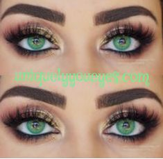 """Colored Lenses Solotica HIDROCOR ESMERALDA """"Also known as """"Emerald"""" Green. It's a like a super bright green , bottom line . It can make deep dark brown eyes, turn into this natural looking bright green eyes. Colored Eye Contact Lenses, Best Contact Lenses, Green Contacts Lenses, Colored Eye Contacts, Natural Color Contacts, Eye Makeup, Urban Decay, Circle Lenses, Emerald Color"""