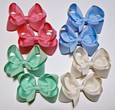 Hair Bows For Little Girls Instructions | Little Girls Hair Bow Set Small Toddler Childrens Kids Boutique ...