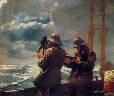 Winslow Homer  [American Painter, 1836-1910]  Eight Bells, 1886