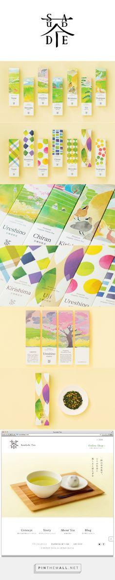 清新的色彩+笨拙的几何形。saudade tea 茶 beautiful packaging PD