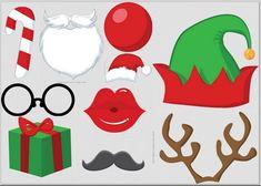 Christmas Free Printable Photo Booth.